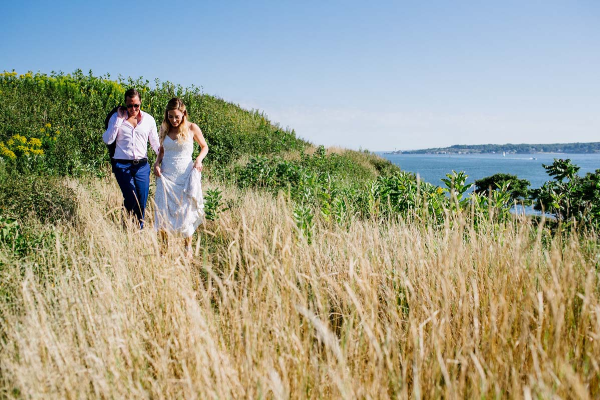 House Island Wedding | Bethany and Dan Photography